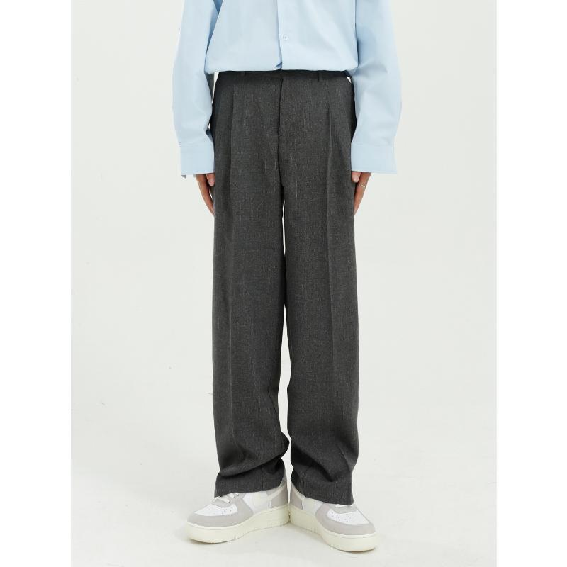 Masculino Japão Coreia Streetwear Hip Hop Moda Vintage Calças homens de cor sólida Casual Calças straight terno