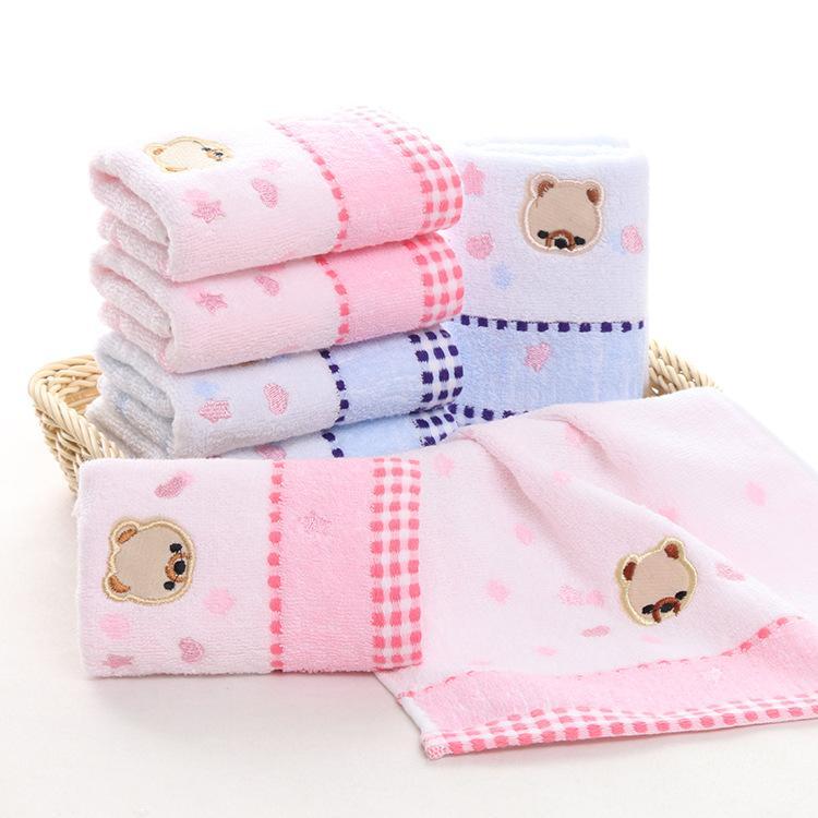 Salle de bains de dessin animé absorbant serviette quotidienne ours mous pour imprimer peu de nécessités jolies enfants romantiques serviette sfdon