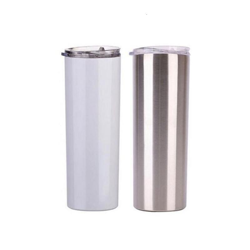 20 узкий тощий тумблеры пустые сублимации тонкая чашка кофе крышка и соломенные пивные кружки с морской доставкой YYA429 100 шт.
