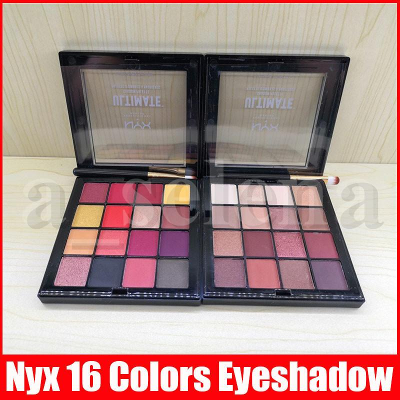 NYX Professional Makeup Warm Neutrals Phoenix Eyeshadow Palette 16 colors eyeshadow palette NYXULTIMATE matte eye shadow