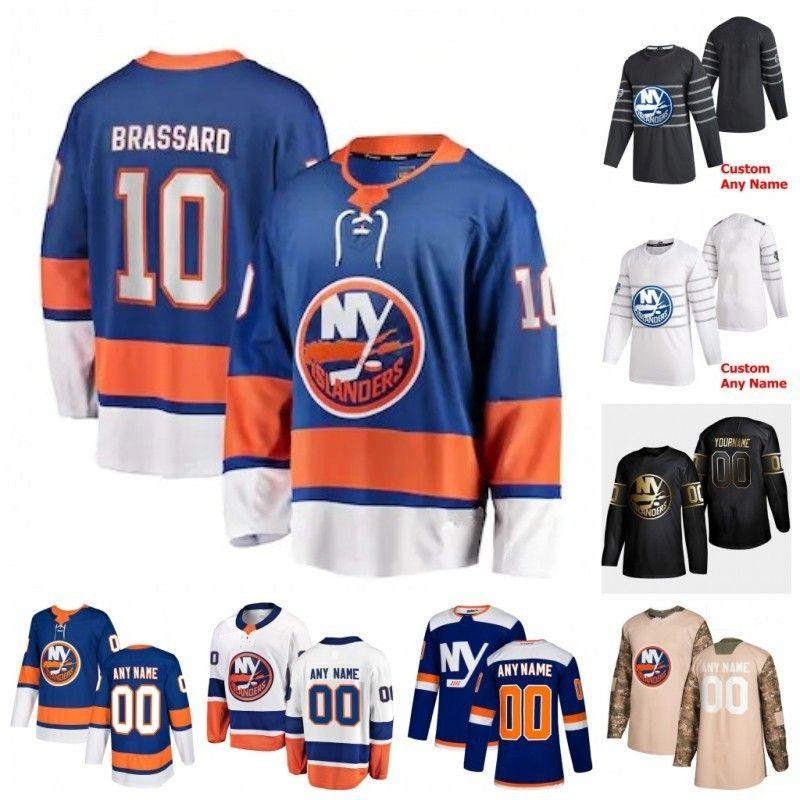 Personalizada Cal Clutterbuck Christopher Gibson Derick Brassard Devon Toews Jean-Gabriel Pageau Josh Bailey 2020 jerseys del hockey cosido