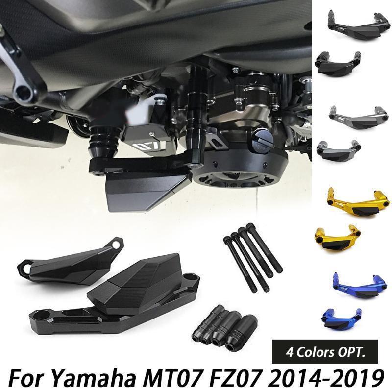 MT07 FZ07 Motor Kılıfı Koruma Kapağı Crash Ped Koruyucu Çerçeve Kaydırıcı MT-07 FZ-07 FZ MT 07 2014 2020 20201