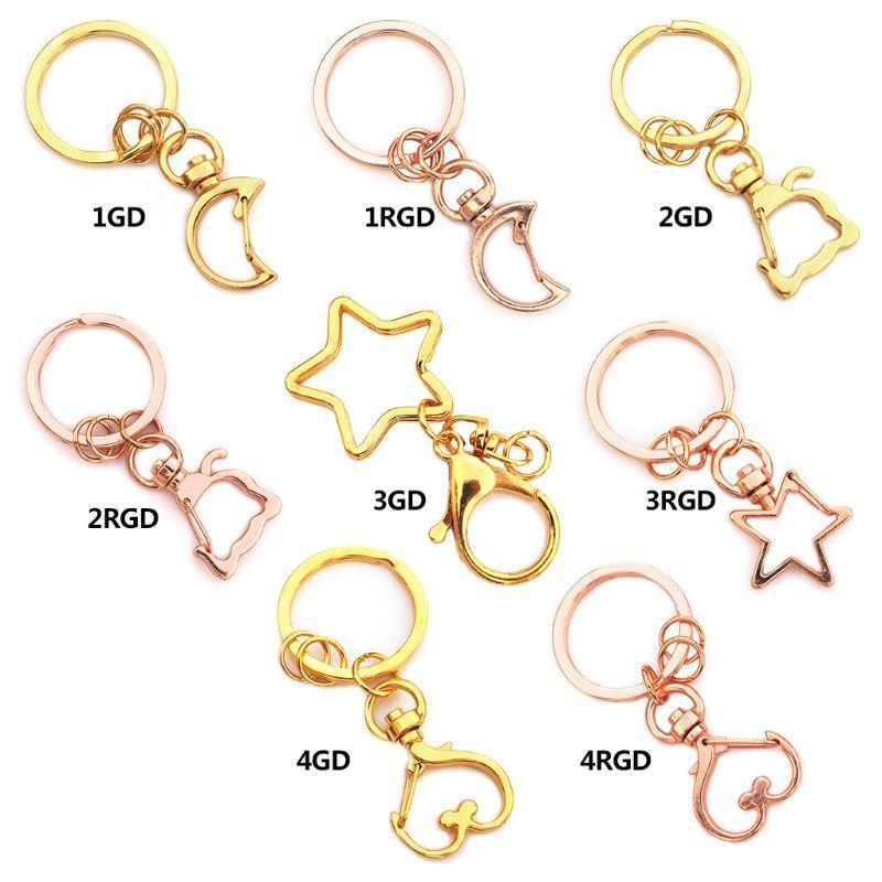 5 Pcs High Quality Key Chains Jewelry Making Diy Accessories Parts Bag Charms Car Keyring Key-chain Trinket