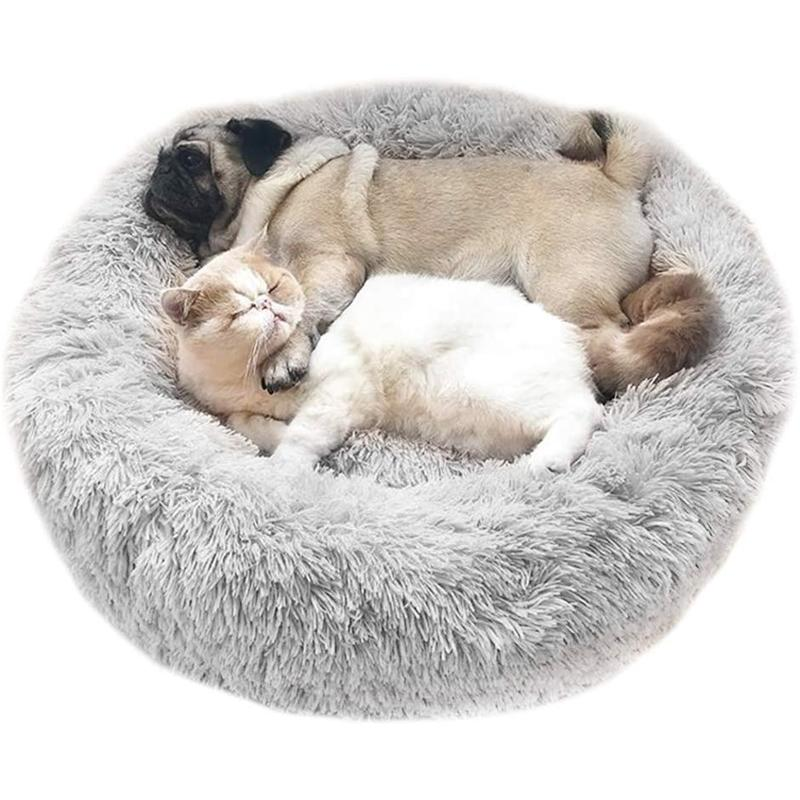 NOUVEAU Style Super Soft rond Lavabo Long Peluche Cat House Cat Maison Velvet Tapis Canapé pour Chihuahua Dog Panier Pet Lit 201125