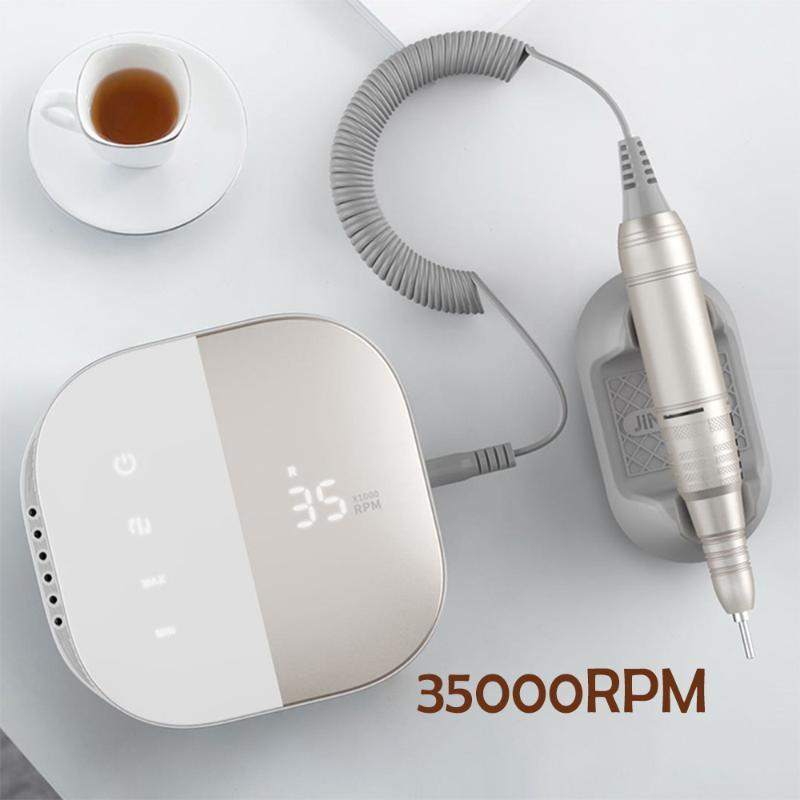 2020 Yeni Tasarım Tırnak Matkap 35000 RPM Elektrikli Tırnak Dosya HD Ekran Metal Manikre Makinesi Sanat Ekipmanları Sander