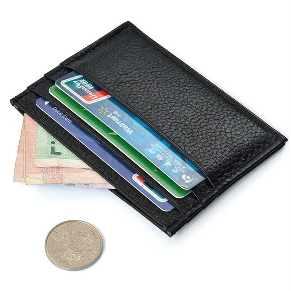 Mens Card Holder lowest price Slim Credit Card Holder Mini Wallet ID Case Purse Bag Pouch Black Wholesale A30
