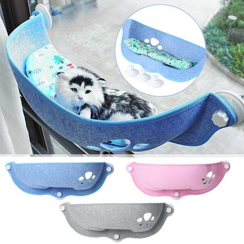 Heißer Verkauf Pet Hängematte Betten, die 20 kg Katzenfenster Liege Saughammock Pet Katze Fensterregal bequemes Katzenfret Pet Bett 201111