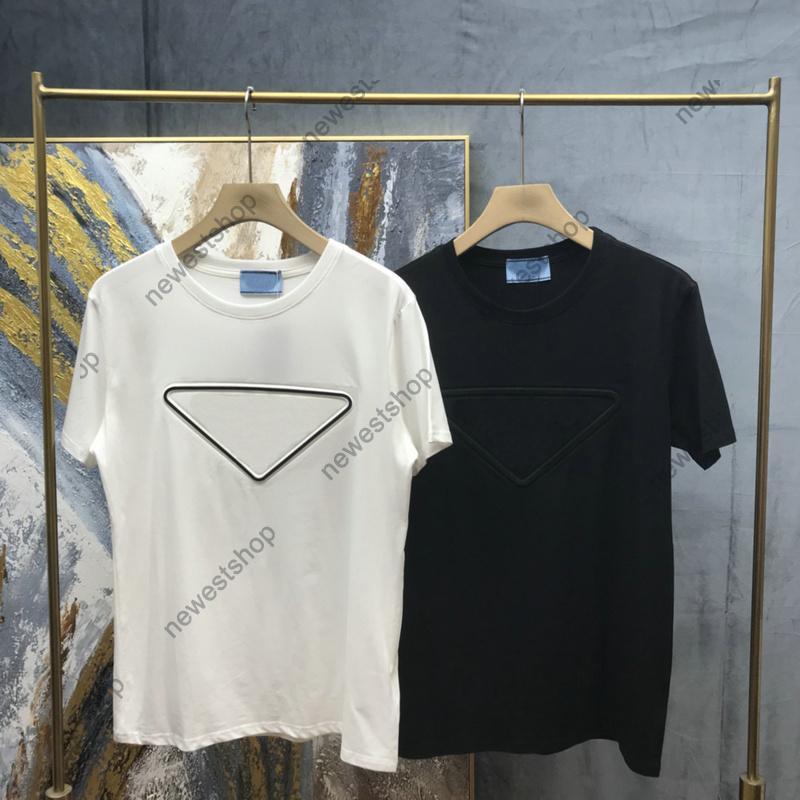 2020 Nouveau designer d'été Mens Lettre d'impression T-shirt Mode Couleur Solide Manches courtes T-shirt T-shirt T-shirt T-shirt Coton Tee-shirt Casual