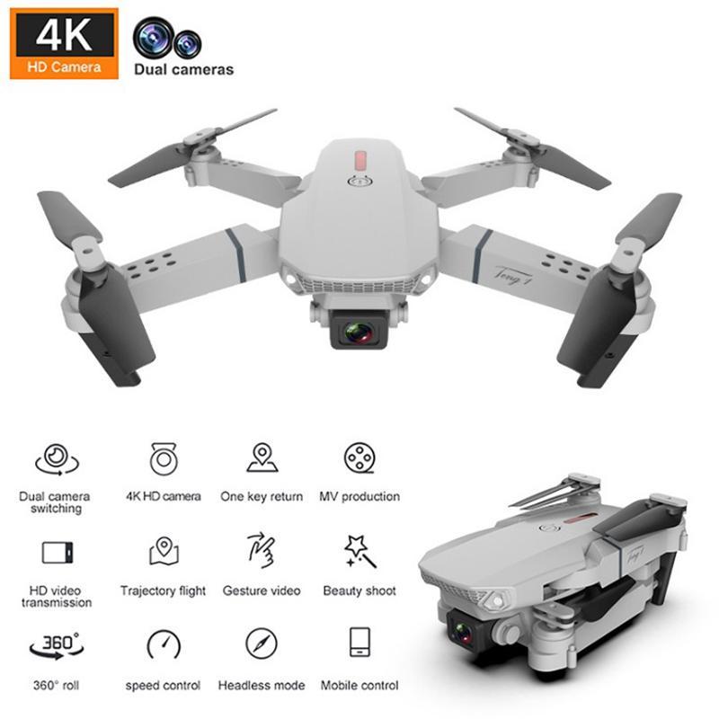 NEW E88 Mini drone 4k pro HD magine With Dual camera drone WiFi 1080p real-time transmission FPV drone follow me rc Quadcopter