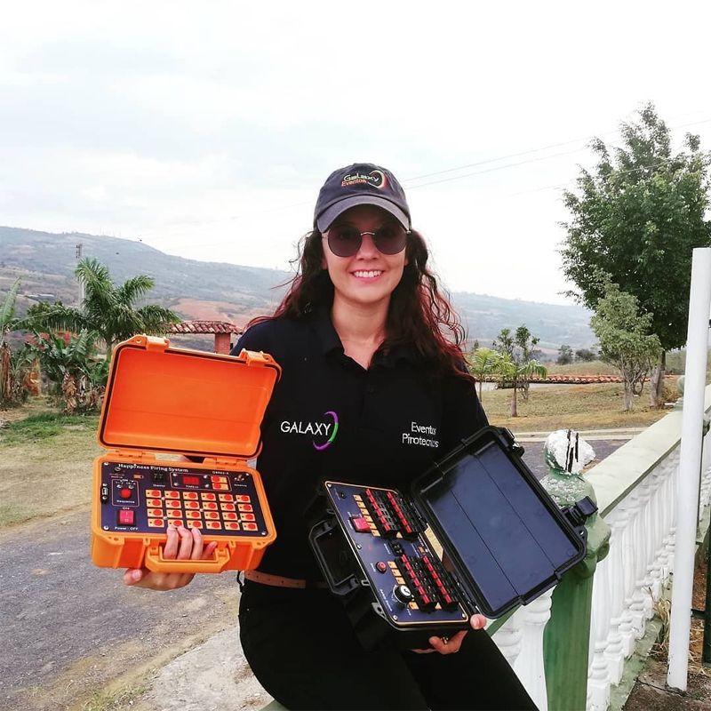 2020 Felicidade 500M Controle Remoto Fireworks Sistema de Apoia para 48 Cuas Sistema de Fogo de Fogos de Artifício (DBR02-X24-48)