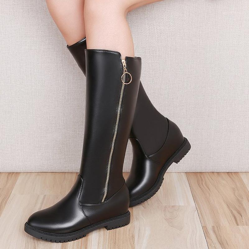 أحدث الأحذية النسائية المد الأزياء الرجعية الكلاسيكية العلامة التجارية مصمم الدافئة عدم الانزلاق أنبوب ركوب الأحذية جولة رئيس عارضة الأحذية 1
