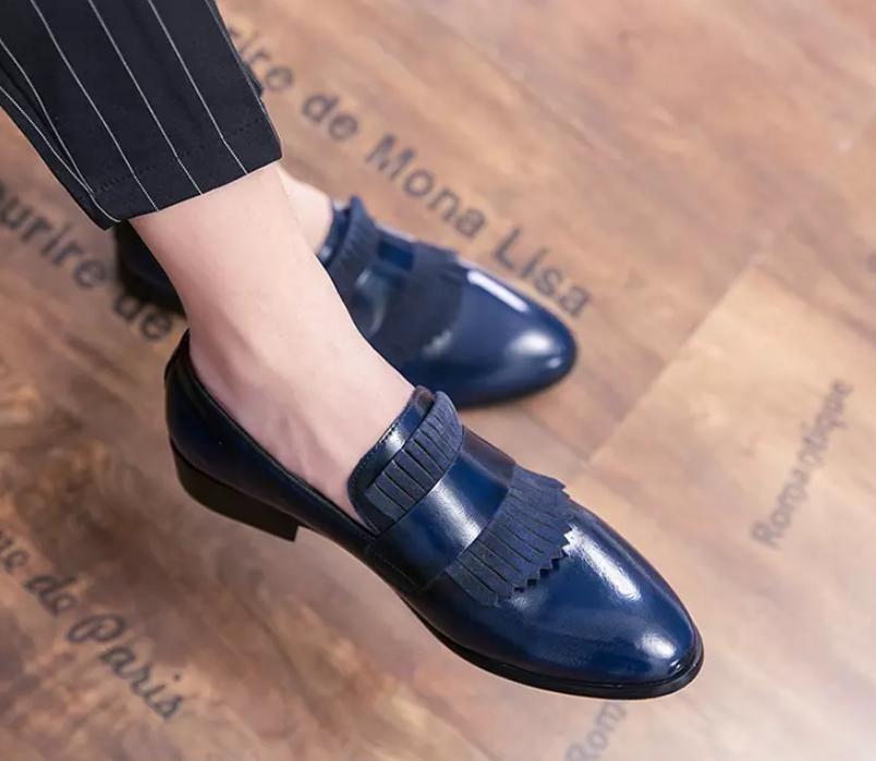 Homens Sapatos Moda de Nova alta qualidade Pu Couro Tassel sapatos Handmade Casual Formal Sapato Stylish Loafers Zapatos De Hombre 4M985