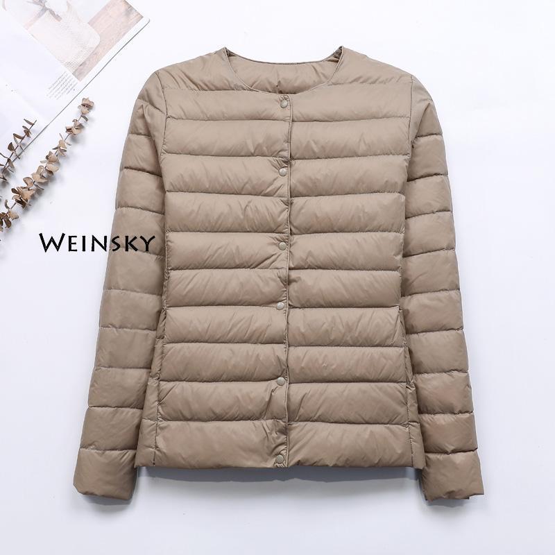 Spring Autumn Women Ultralight Thin Down Jacket White Duck Down Jackets Warm Winter Coat Parka Female Portable Outwear