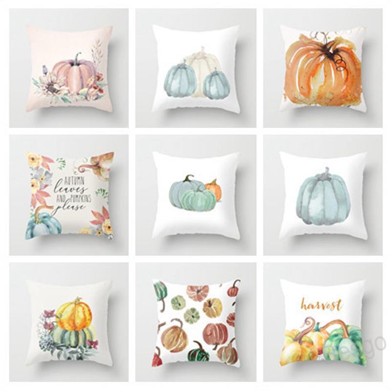 45*45cm Halloween Pumpkin Pillow Covers Thanksgiving Day Pillowcase Pumpkin Sofa Cushion Cover Home Party Decoration BH4375 WXM