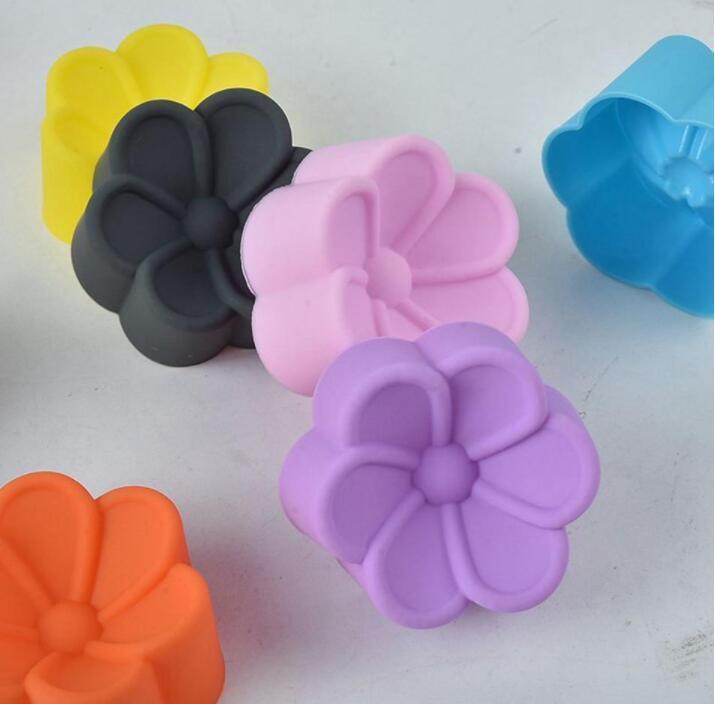 Silicone molde de cozimento flor em forma de silicone moldes bolo muffin copos de doces moldes DIY sabão de mão de chocolate cupcake moldes ewc3107