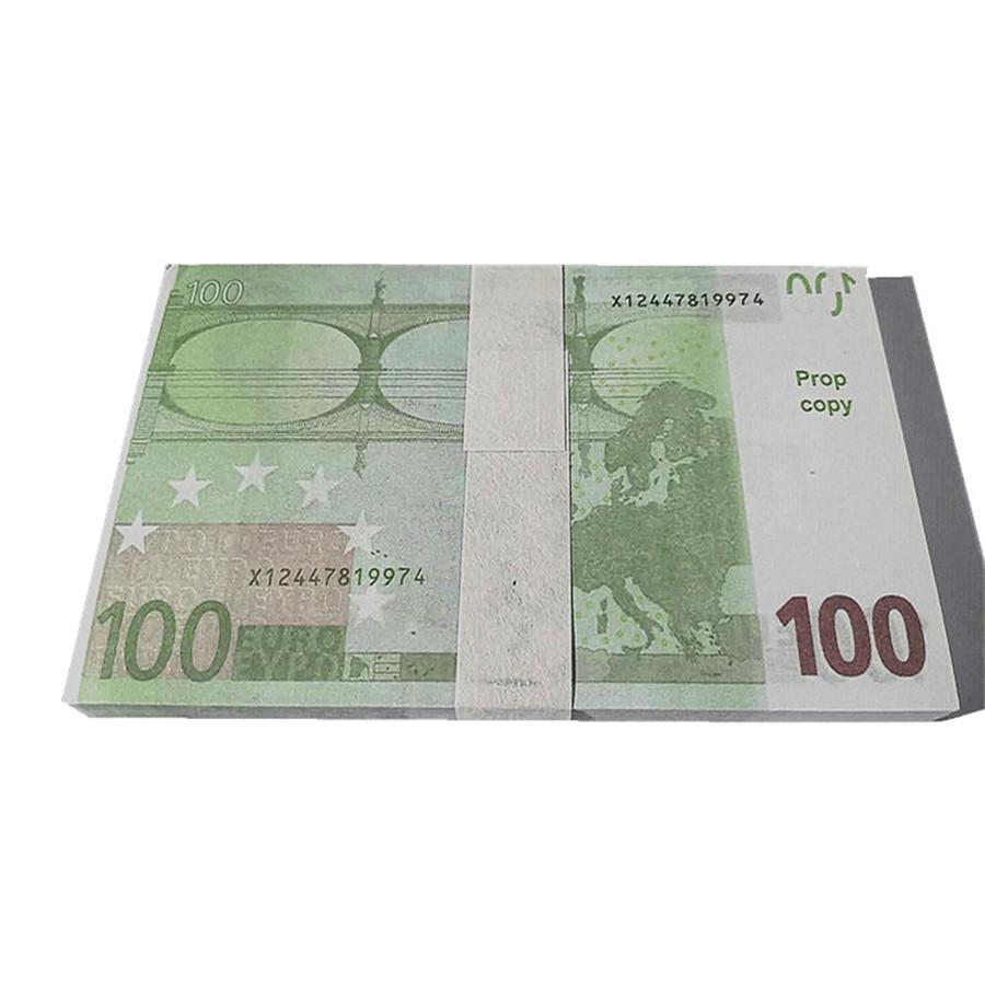 Monnaie PLAY PROP ARGENT 100PCS / PACK K7 100 BRA FOND FAUT FAUS FAUX FILM EUR EUROS ETMUP EUROS BILLET DOLLARS SFRQWW