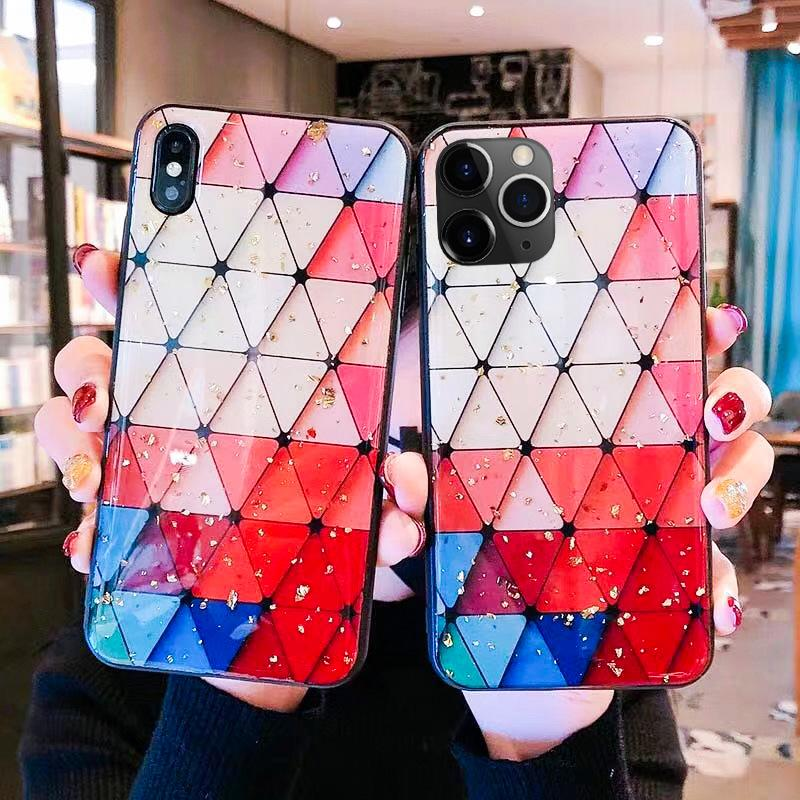 Epoxy Heart Leopard Spotted TPU PC Case For iPhone 11 Pro Max XS XR X 8 7 6 Samsung S9 S10 Plus S10e Note 10 10+ A10 A20 A30 A40 A50 A70 A80
