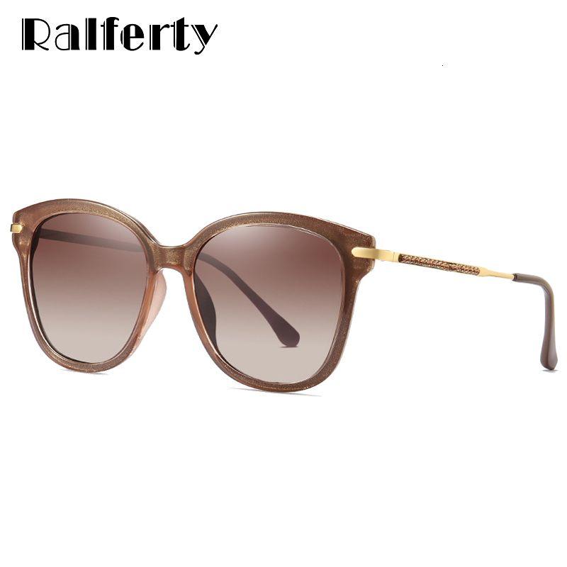 Eyewear Cristal Polarizado Ralferty Gradient D201956 Óculos de Sol Designer Temple Sun Óculos Sunnies UV400 Mulheres de Luxo Rhinestone Xssen