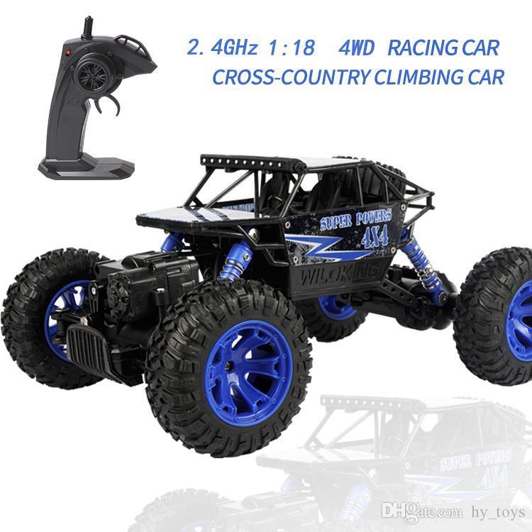 1: 18 2.4G uzaktan kumanda tırmanma araç elektrikli yoldan araç simülasyon uzaktan kumanda araç modeli kablosuz uzaktan kumanda oyuncak