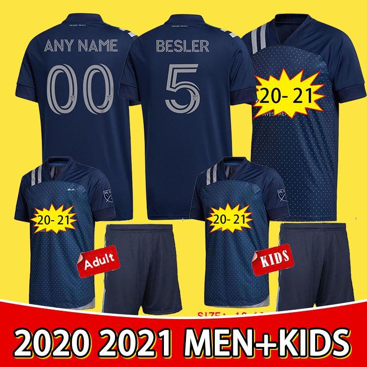 2020 Высочайшее качество Спортивное Канзас Сити Футбол Джерси № 5 Бестер # 7 Рассел # 9 Пулю # 8 Зуси Salloi 2021 млн. Мужчины + Детский комплект Футбольная футболка