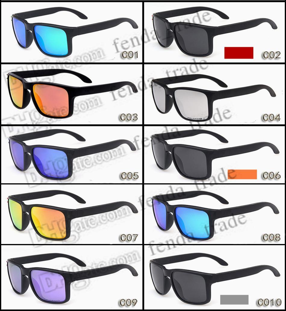 프로모션 핫 세일 브랜드 편광 선글라스 남성 여성 여성 스포츠 사이클링 안경 고글 안경 10 색 옵션 MOQ = 10pcs 프로모션 통행