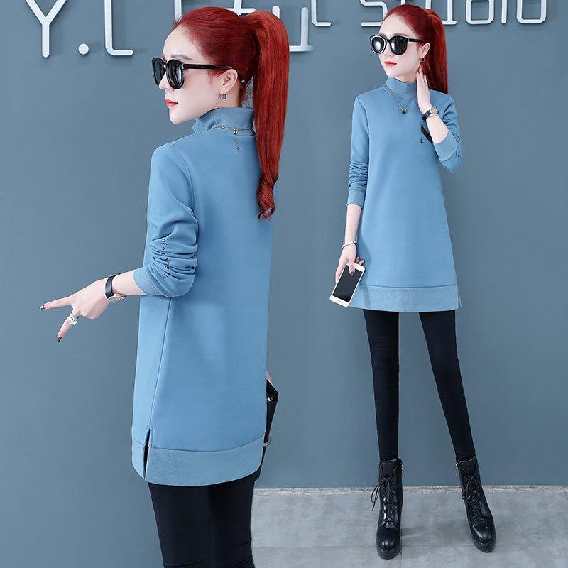 Средняя длина длинный стиль женский свитер осенью и зимой