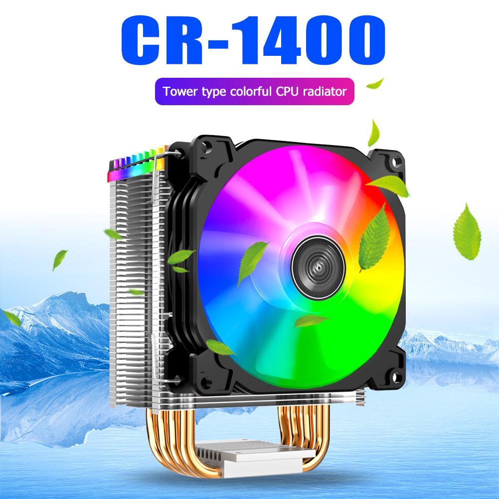 Jonsbo CR1400 PWM 4-pin PC-Lüfter RGB 4 Heat-pipes CPU-Kühler Computer-Kühler für Intel 1151/1155 / AM3 / AM4 CPU-Kühler