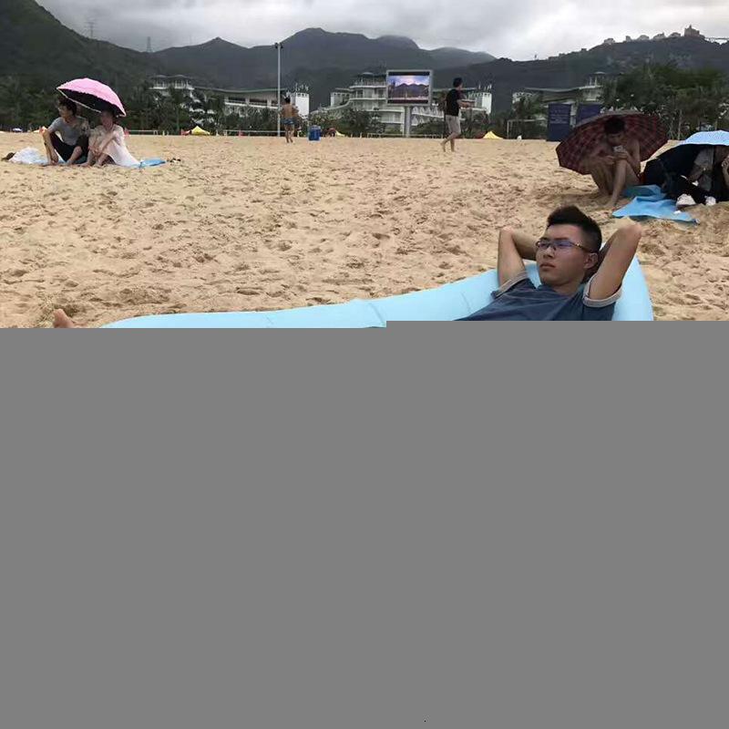 Tembel Açık Plaj Uyku Tulumu Iatable Yatak Taşınabilir Hava Kanepe