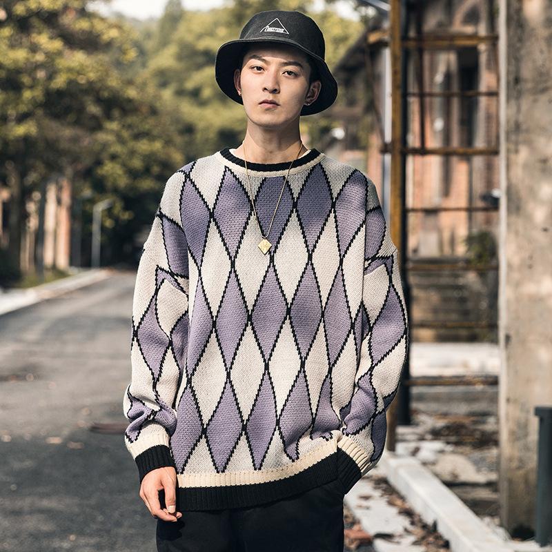 PYJTRL Men's Loose Sweater
