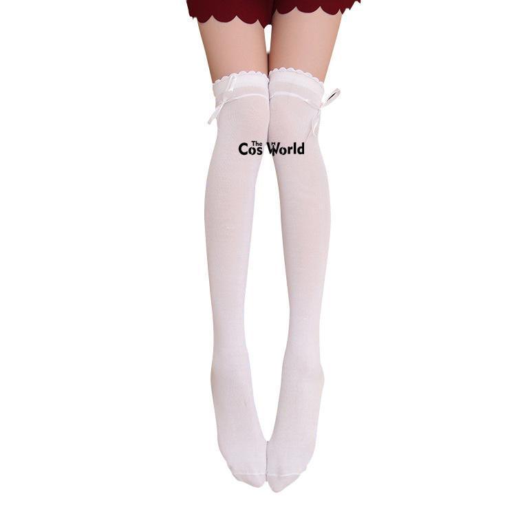 Knee JK Okul Üniforması Öğrenci Giyim için çorap Uzun Çorap Üzeri 3 Renkler Kız İlkbahar Sonbahar Kurdele Laciness Uyluk Highs