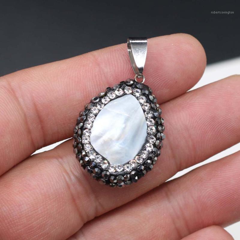Drop-förmige Shell Charm Anhänger Für Frauen Geschenke Schmuckherstellung DIY Handgemachte Halskette Armband Ohrring Zubehör Größe 22x30mm1