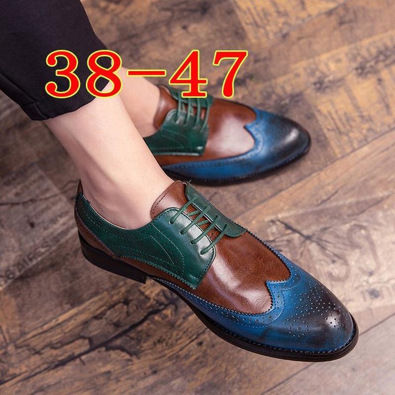 Hommes homme mâle robe de dentelle formelle up vintage de taille plus brogues chaussures hommes conduite Zapatos de hombres personlizar Zapatos M0140