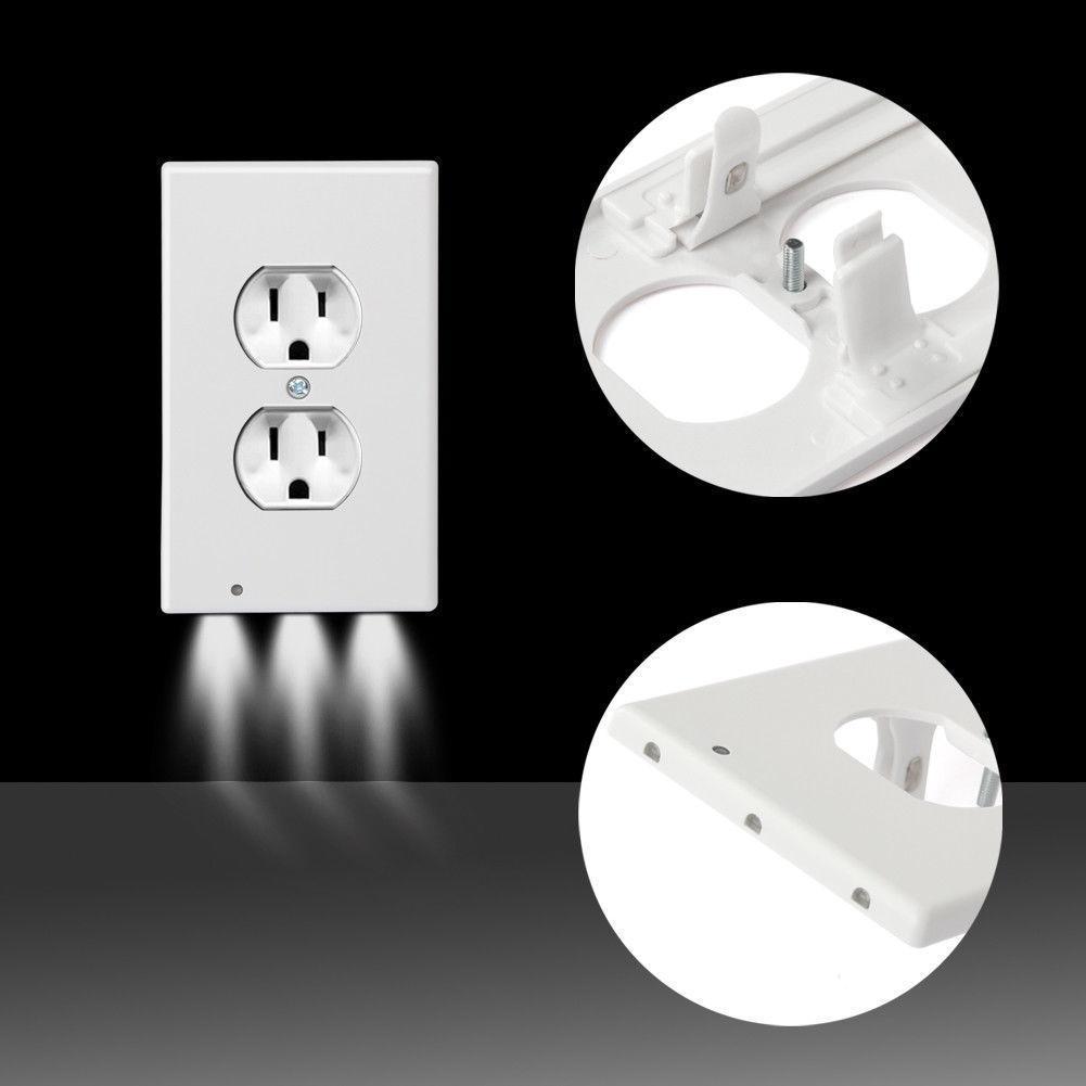 LED Plug Cover Night Light Night Angel Lamp Lampada da parete Outlet PIR Sensore Luce per camera da letto PASSAGEWAY Cucina