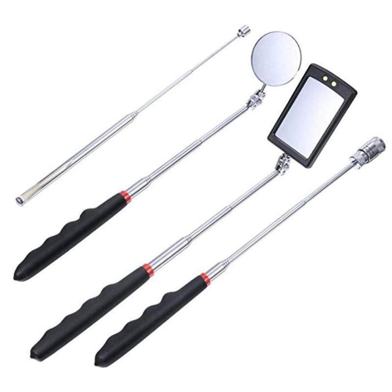 Caméras Auto Auto Light Extensible Inspection Extensible Miroir Endoscope Angle de voiture Vue Pen Automotive Télescope Détection Tool de réparation de la main 4pcs