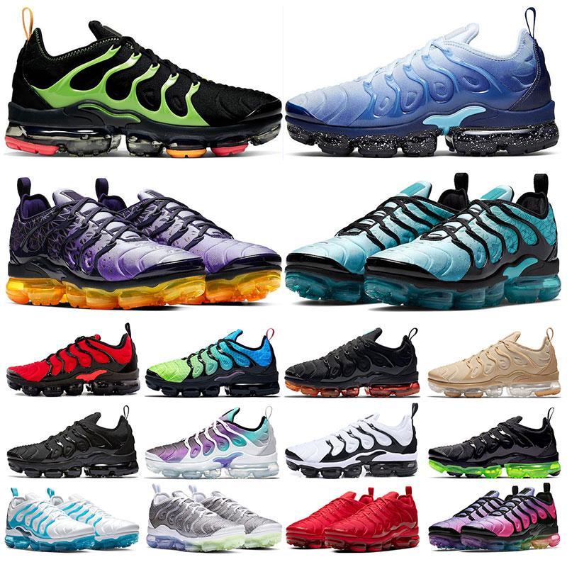 Nike tn plus Neu reagieren Männer Laufschuhe Top-Qualität BAUHAUS OPTICAL Triple Black Fashion Herren Turnschuhe atmungsaktiv Sport Turnschuhe Größe 40-45