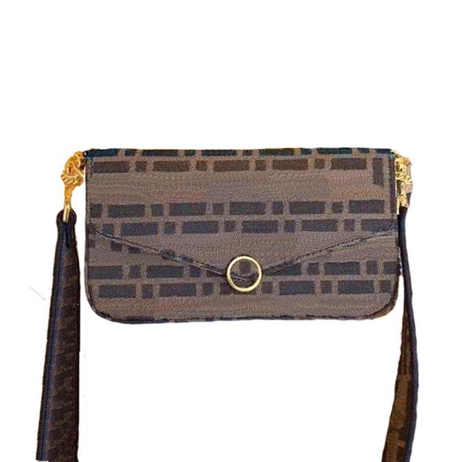 3 مجموعة حقيبة الكتف الخصر للنساء مصمم محفظة مع سلسلة السيدات الأزياء رفرف أكياس أعلى جودة مصممي محفظة أكياس crossbody
