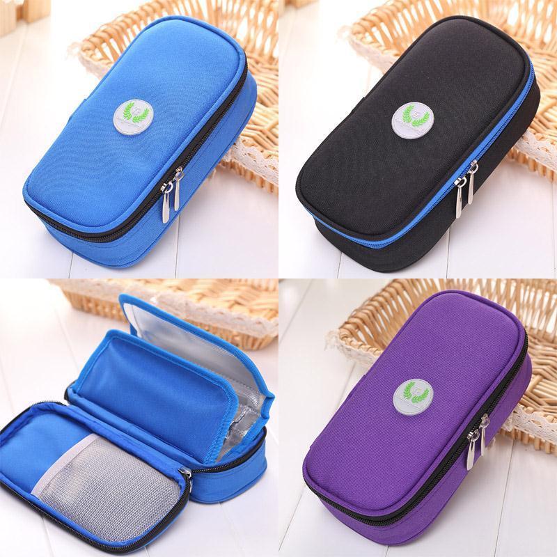 20 cm Tragbare Kühlbeutel Diabetikereis Pack Kühlerbeutel Protector Supply Punch Injector Wallet Funktionelle Lagerung