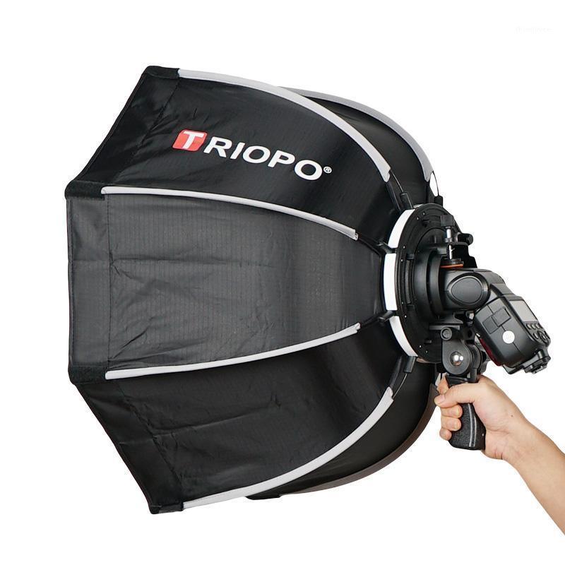 Light Stand Booms Triopo 65cm Ombrello Softbox Portatile Ottagono Ottagono all'aperto per Godox V860II600685 YN560 III IV TR-988 Flash Speedlite Soft B