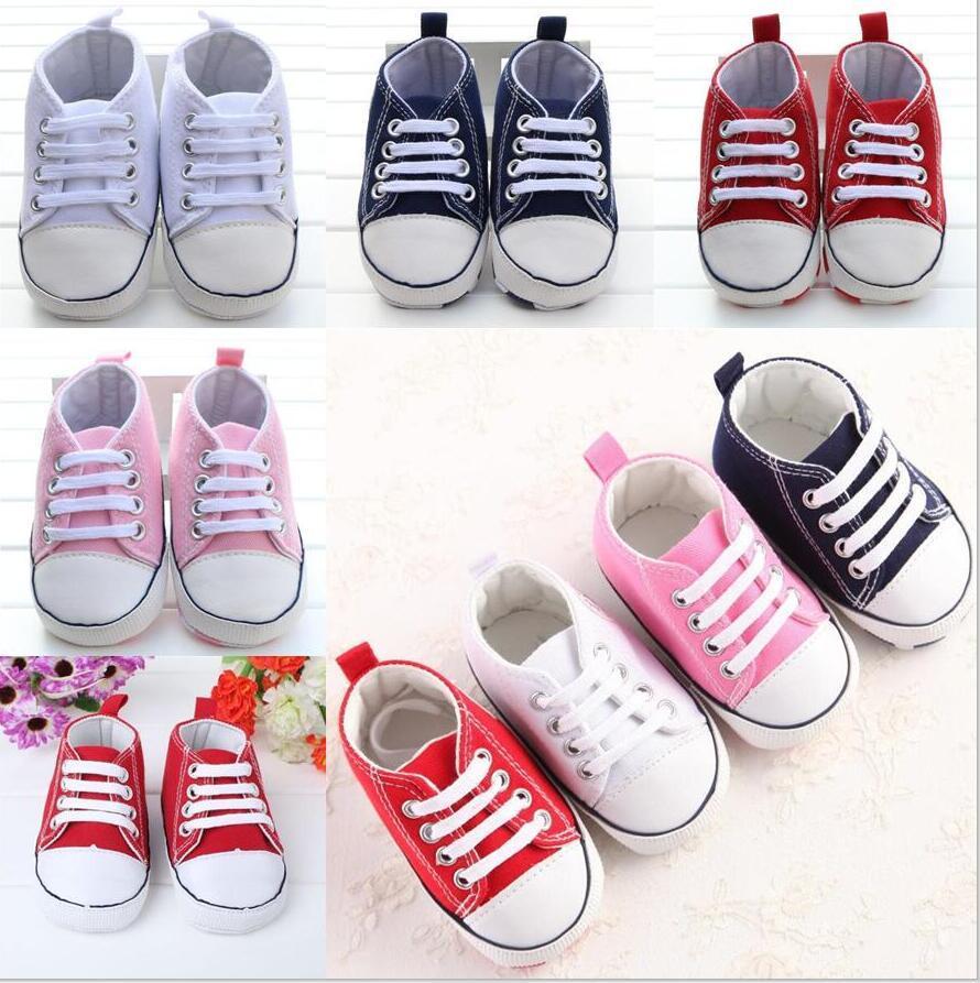 Детская обувь мальчик девушка кроссовки хлопчатобумажные мягкие противоскользящие подошвы новорожденные младенческие первые ходунки малыша повседневная холст обувь 0-18м