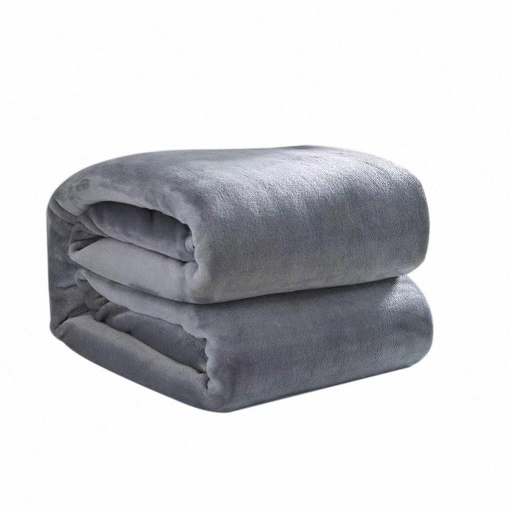 Главная Мода шерстяное одеяло Solid Soft Гостиная Спальня Кондиционер Одеяла кровать Для диван Постельные принадлежности 70x100cm DWCM #