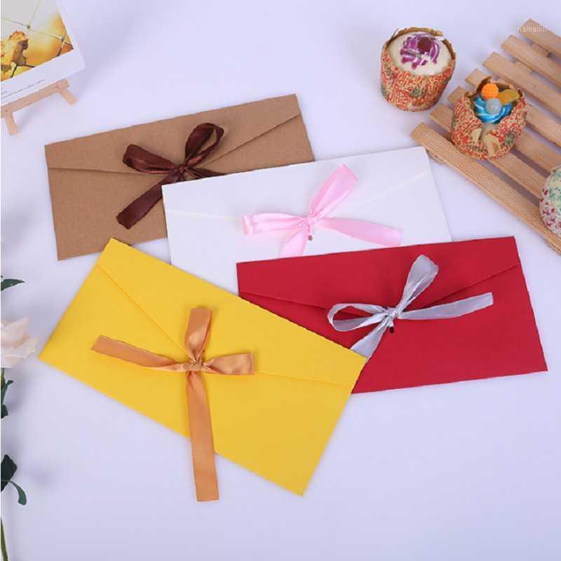 5pcs fita criativa kraft envelope escrita papel carta de papel envelopes para convites casamento envelopes 22x11cm1