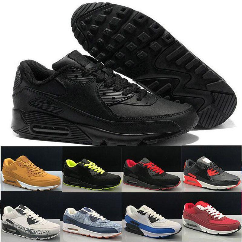 2020 USA 90 Chaussures de course Hommes Femmes Chaussures 90s Camo Worldwide Worldwide Supernova Triple Black Black Hommes Baskets Sports de plein air 36-45