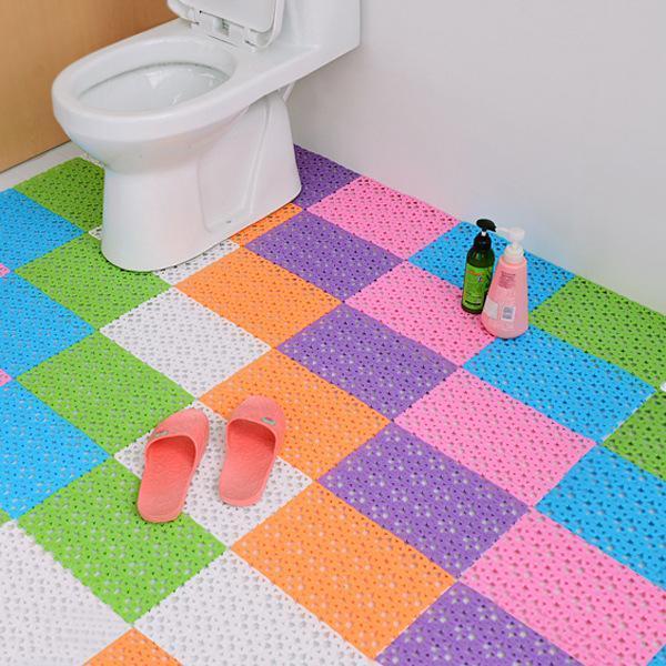 Badmatten Rutschfeste Mosaikmatte Dusche Pad PVC Massage Massive Farbe Für Badezimmer Haus Küche RT99