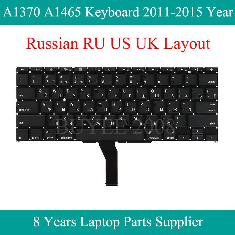 Laptop Dutch Canadian Испанский Чешский Тайский клавиатура для Air SP GE FR Azerty A1370 A1465 клавиатура 2012-2020