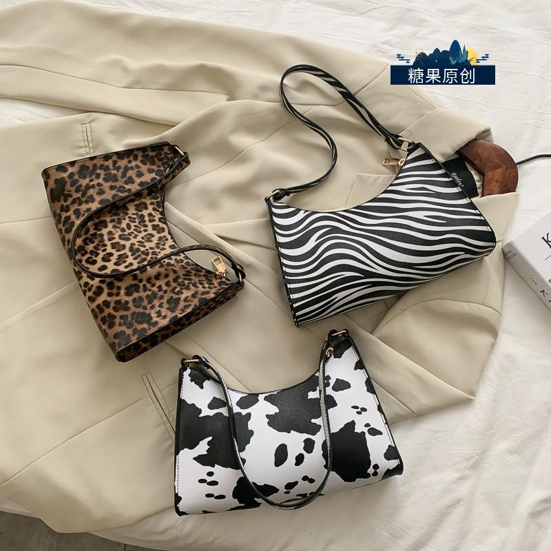 HBP حقيبة يد الإبط حقيبة محفظة الرجعية الحيوان زيبرا نمط شخصية مصممي أزياء المرأة حقائب عالية الجودة حقائب اليد