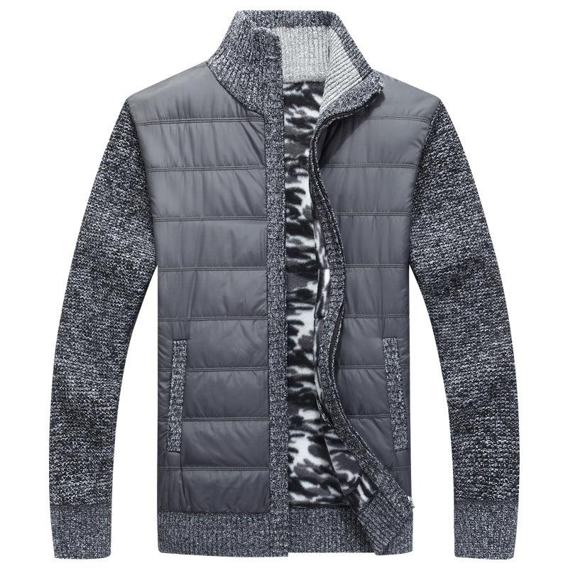 Winter Herren Fleece Pullover Mantel Thick Patchwork Strickjacke aus Wolle Muscle Fit gestrickte Jacken Modische Male Kleidung für Herbst 201017