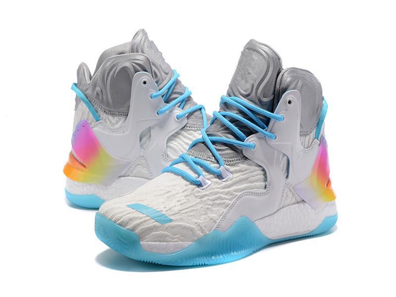 نادرة D روز 7 الأحذية الأبيض عيد الميلاد كرة السلة للرجال مع الأحذية مربع جديد ديريك روز 7 كيه Primeknit الرياضة تخزين US7-US11.5