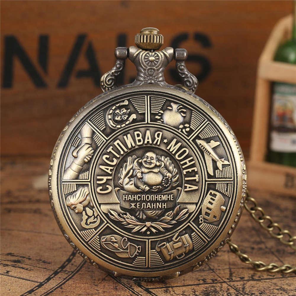 Yisuya Metal Art Embossing Bolso de Quartzo Relógio Russo Colecionável Moedas Pingente Relógios Cadeia Presente Reloj Enfermera