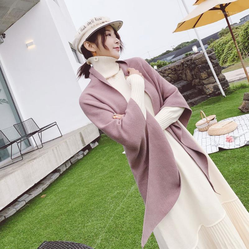 2020 autunno e inverno stile coreano triangolo di lusso triangolo solido studenti scialle scialle double lati sciarpa a maglia calda per lady1
