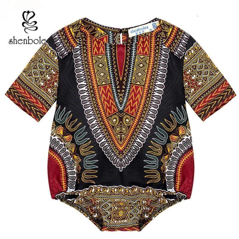 Dashiki Kinder Kleidung Afrikaner Dashiki Druck Jumpsuits Kleidung Traditionelle Baumwollmaterial Schöne Kinder